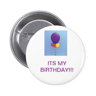 El botón del cumpleaños pins