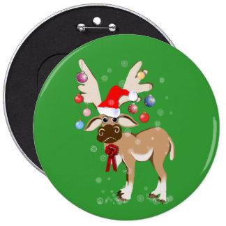 El botón del reno del navidad