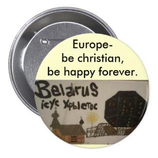 El botón/Europa cristianos del perno de Pin
