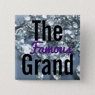 El botón magnífico famoso del fiesta