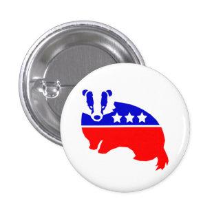 El botón OFICIAL del tejón del fiesta de la