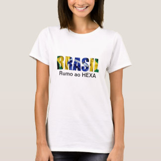 El Brasil (el Brasil) Rumo ao Hexa Camiseta