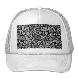 El brillar elegante floral gorras