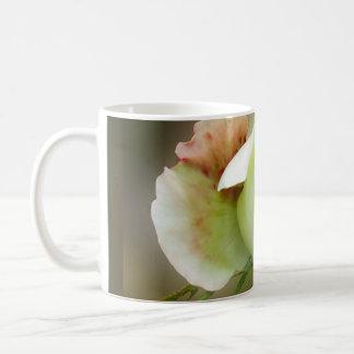 el brillar intensamente del capullo de rosa taza de café