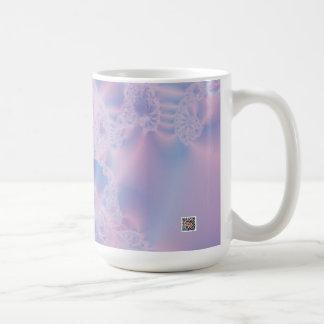 El brillar intensamente rosado taza de café