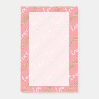 el brillo color de rosa del oro raya el modelo de notas post-it®