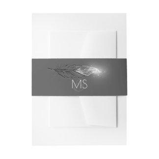 El brillo de plata elegante sumergió casarse de cintas para invitaciones
