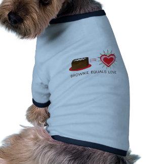 El brownie iguala amor ropa de perro