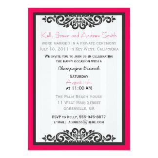 El brunch personalizado de la recepción invita con invitación 12,7 x 17,8 cm
