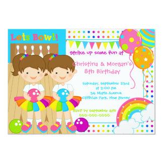 El Brunette hermana a la fiesta de cumpleaños de Invitación 12,7 X 17,8 Cm