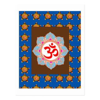 El Buddhism del Hinduism del templo del arte del Postal