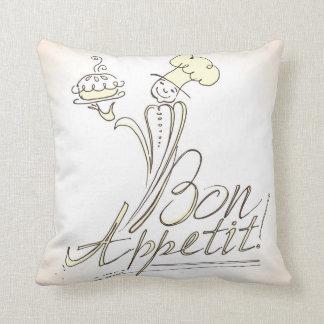 ¡El buen cocinero dice el Bon Appetit! Almohada