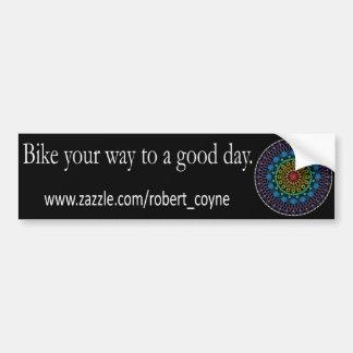 El buen día Bikes a la pegatina para el parachoque Pegatina De Parachoque