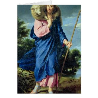 El buen pastor, c.1650-60 tarjeta de felicitación
