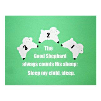El buen pastor cuenta siempre sus ovejas… postal