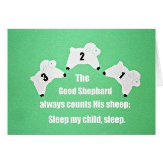 El buen pastor cuenta siempre sus ovejas… tarjeta de felicitación