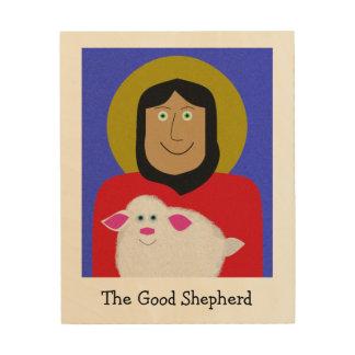 El buen pastor impresiones en madera
