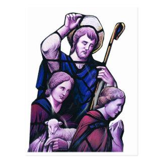 El buen pastor, ventana de la iglesia postales