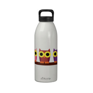 EL BUHO BOO - Búho de colores Botella De Agua Reutilizable