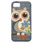 El búho con el vintage florece el iPhone 5 iPhone 5 Case-Mate Carcasas