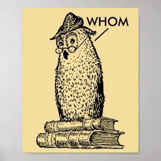 El búho de la gramática dice quién impresiones