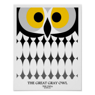 El búho gris póster