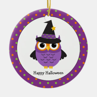 El búho lindo de Halloween embroma el ornamento