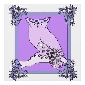 El búho púrpura cuadro