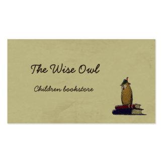 El búho sabio tarjetas de visita