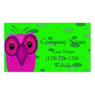 El búho plantilla de tarjeta de negocio