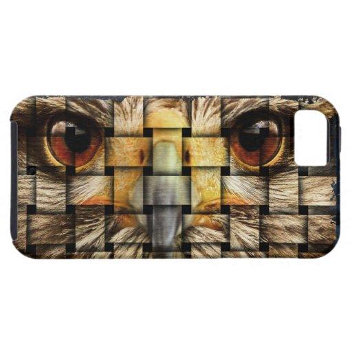 El búho tejido iPhone 5 Case-Mate carcasas
