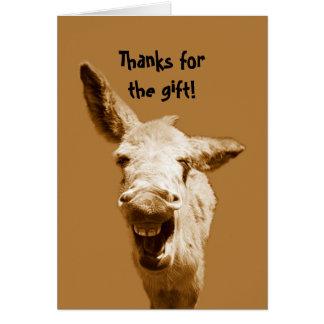 El burro de risa le agradece felicitaciones
