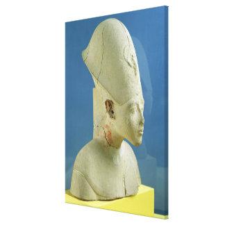 El busto de Amenophis IV de dice EL-Amarna Impresión En Lienzo Estirada
