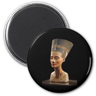 El busto de la reina Nefertiti Imán Redondo 5 Cm