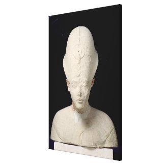 El busto de rey Amenophis IV de dice EL-Amarna Lienzo Envuelto Para Galerías