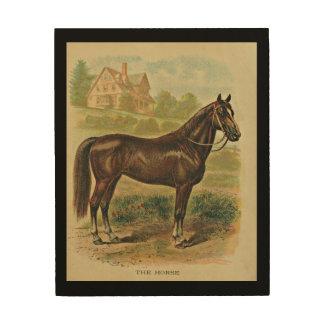 "El caballo 8"""" arte de madera de la pared x10"