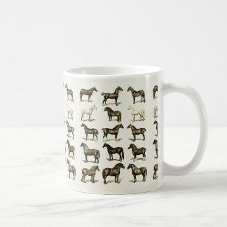 El caballo del vintage cría los accesorios y los taza de café