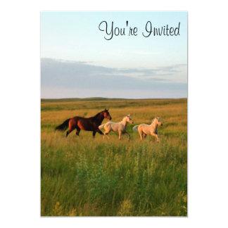 El caballo hermana la yegua y pare invitación de invitación 12,7 x 17,8 cm
