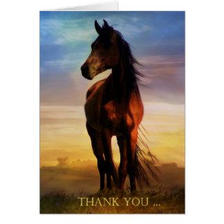 El caballo le agradece tarjeta de nota