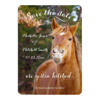El caballo sonriente ahorra las invitaciones de la invitación 12,7 x 17,8 cm