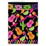 El cactus del sombrero del fiesta de la fiesta tarjeta de felicitación
