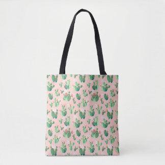 El cactus rosado florece la bolsa de asas