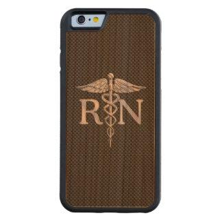 El caduceo del RN de la enfermera registradoa Funda De iPhone 6 Bumper Cerezo