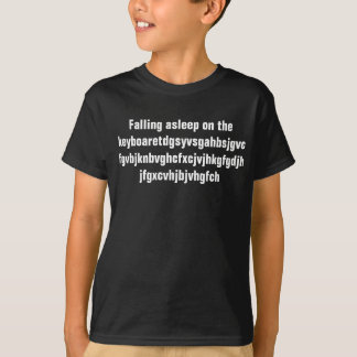 El caer dormido en el teclado camiseta