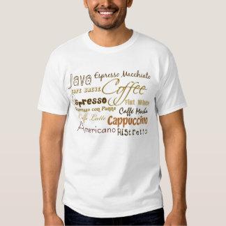 El café bebe la camiseta del campanero