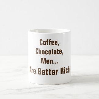 El café, chocolate, hombres es taza de café mejor