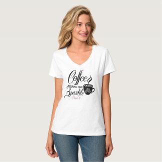 El café de la vida de Bling me hace la camiseta