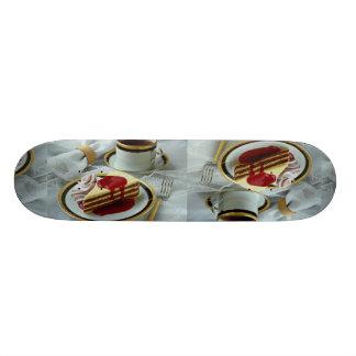 El café delicioso y baumkuchen el torte monopatín personalizado