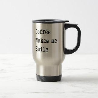 el café divertido del navidad hace que sonríe taza de viaje