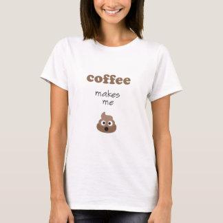 El café divertido me hace frase del emoji del camiseta